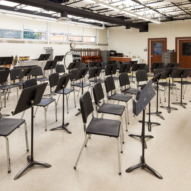 band room of Lombard Middle School