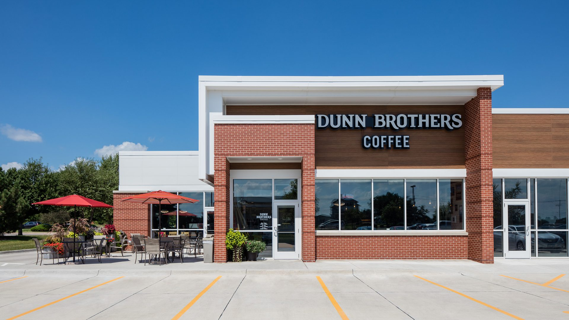 brick exterior of Dunn Brothers