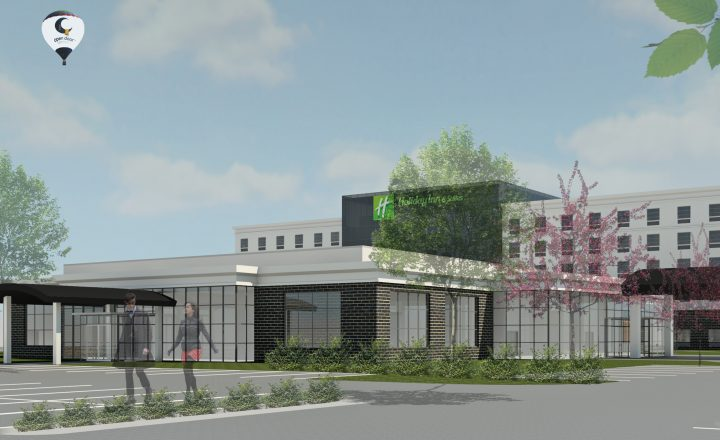 exterior rendering of the Holiday Inn & Suites