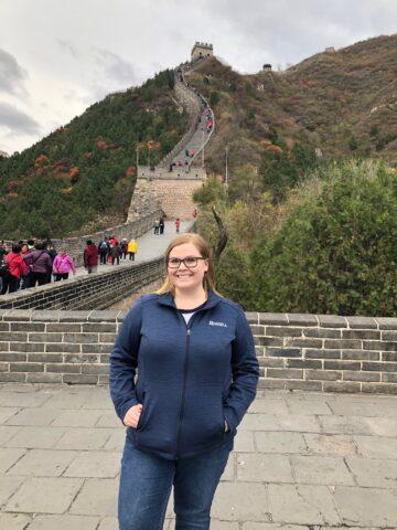 Becca at the Great Wall of China